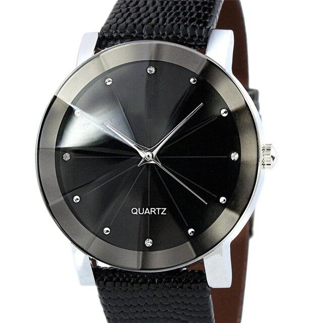 Watch Men Unisex Quartz Sport Military Stainless Steel Dial Leather Band WristWatch Men Women Watch Clock Gift 2018 Luxury Brand 1