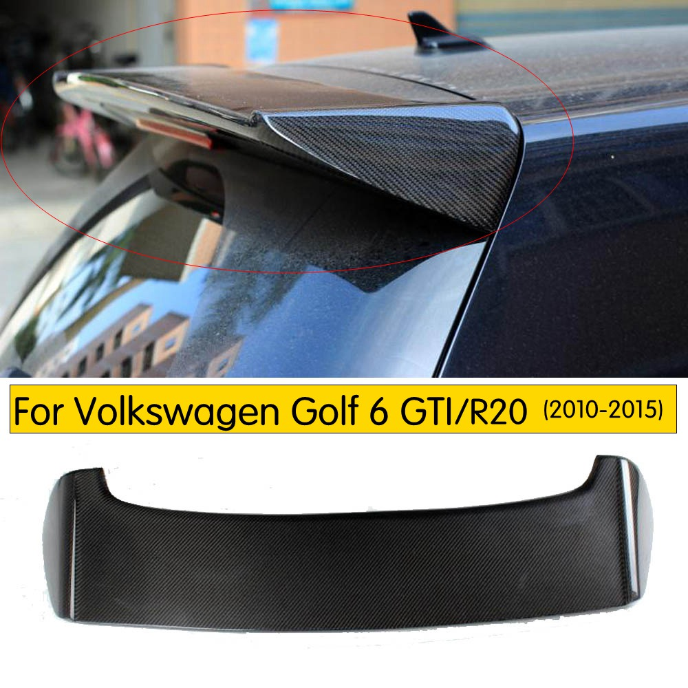 O Style Carbon Fiber rear trunk spoiler For VW Golf 6 MK6 Car rear wing spoiler 2010-2015 only fit GTI&R20O Style Carbon Fiber rear trunk spoiler For VW Golf 6 MK6 Car rear wing spoiler 2010-2015 only fit GTI&R20