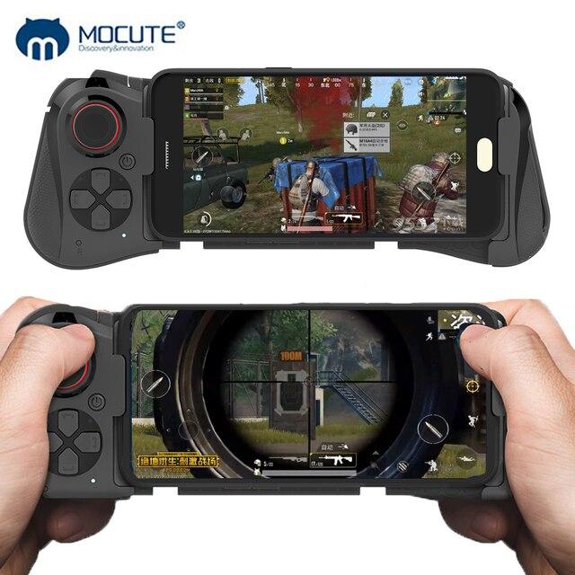 Mocute 058 almohadilla de juego inalámbrica Bluetooth Android Joystick VR controlador telescópico Gamepad para iPhone PUBG móvil Joypad