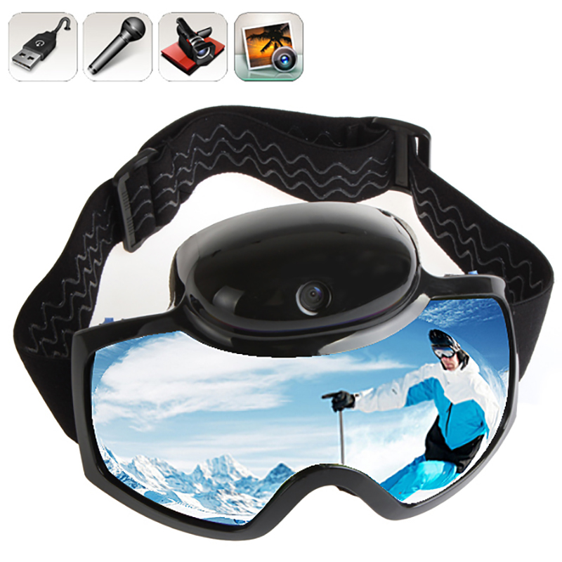 2018 Skiing Goggles Mask 720P HD 1080P Camera Video Camcorder UV Anti fog Men Women Snowboard