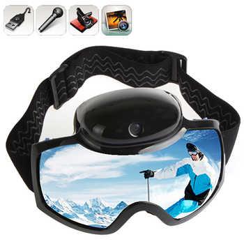 2018 Skiing Goggles Mask 720P HD 1080P Camera Video Camcorder UV Anti-fog Men Women Snowboard Glasses Action Camera Ski Eyewear - DISCOUNT ITEM  20% OFF Sports & Entertainment