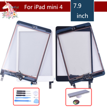 10pcs/lot original for apple iPad mini 1 2 3 4 Touch Screen Digitizer with Home Button assembly Front Glass Touch Panel tablet