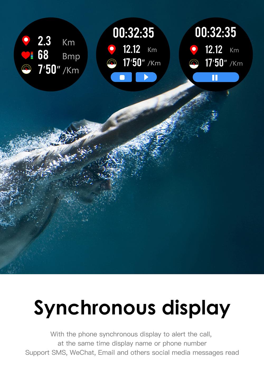 Reloj inteligente L8 IP68 para Hombre, Reloj inteligente resistente al agua con ECG presión arterial mediante PPG, relojes deportivos para fitness 10