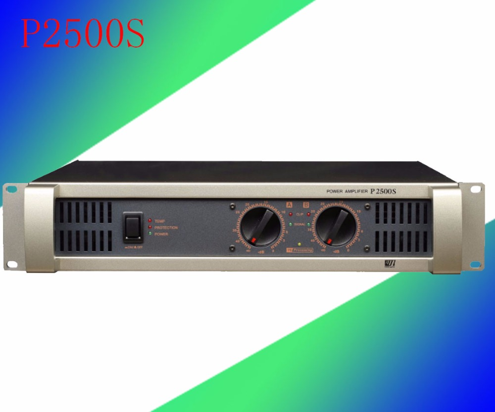 High Power Amplifier ktv Professional Stage Amplifier Broadcast Speaker Amplifier P2500S high quality sound digital professional high speaker power amplifier module fp14000