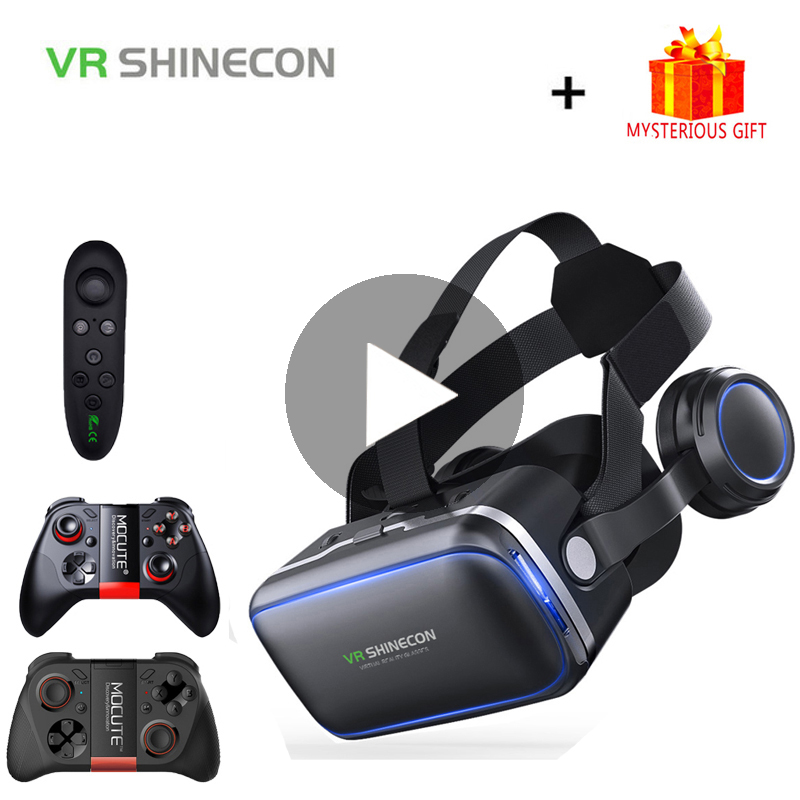 VR Shinecon 6.0 3D Glasses Virtual Reality Headset For iPhone Android Smartphone Smart Phone Goggles Casque Lunette Helmet Lens