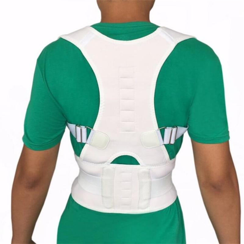 Shoulder Back Belt Spine Support Belt for Men Women New Magnetic Posture Corrector Neoprene Back Corset Brace Straightener