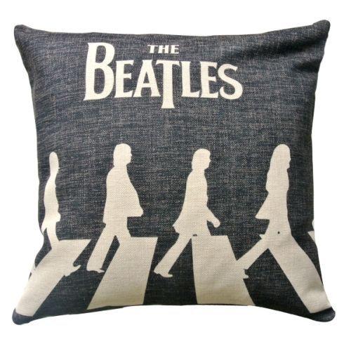 The Beatles Zebra Crosssing Abbey Road Cushion Cover UK Rock Throw
