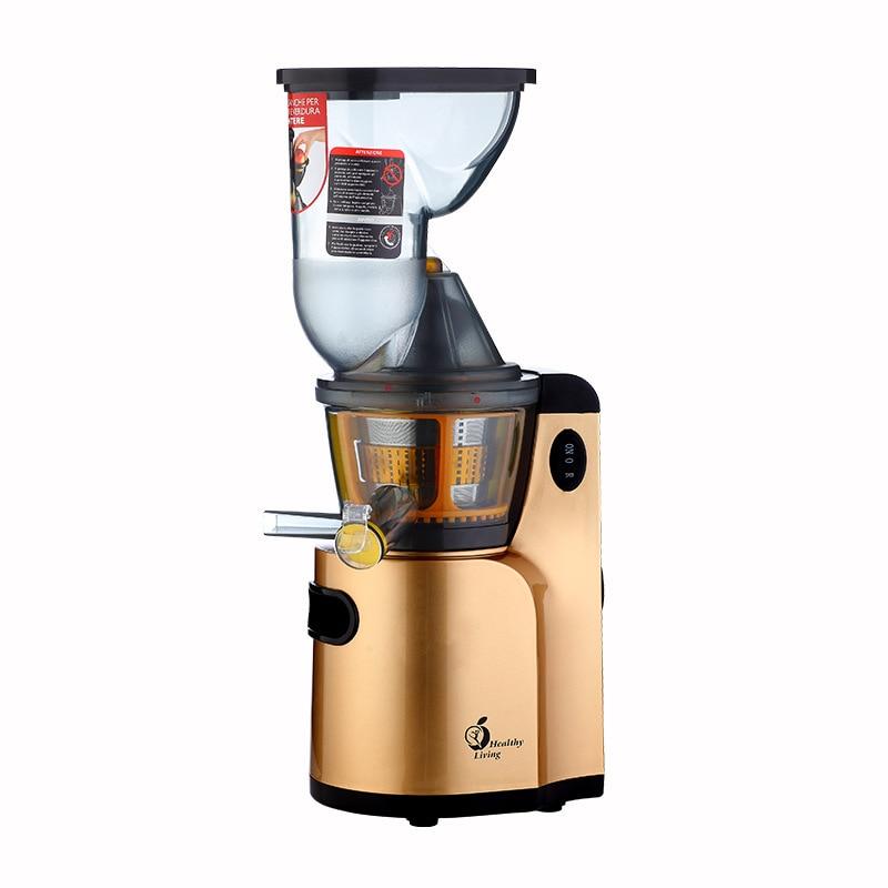 T-Q9 ménage multi-fonction presse-agrumes coupe libre machine à fruits 68R/min lentement basse vitesse jus Machine extracteur de jus rouge/doré