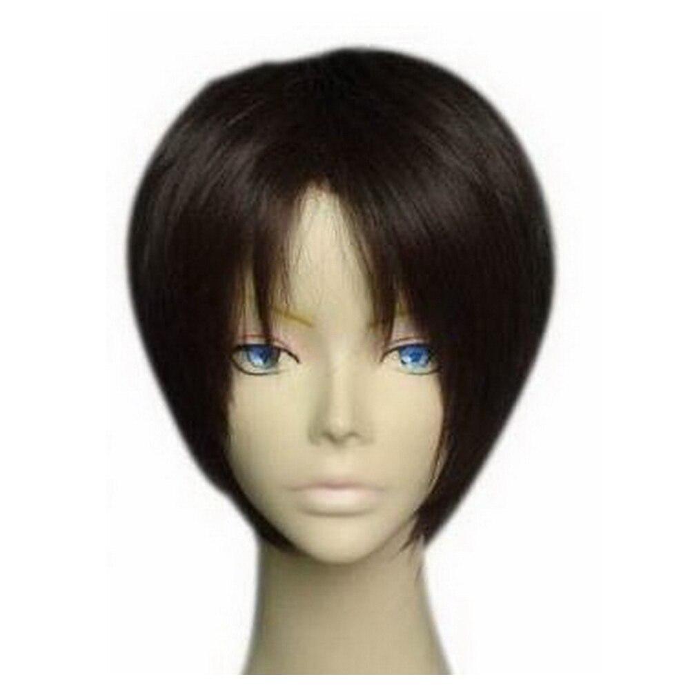 X-COSTUME Attack on Titan Eren Jaeger Short Dark Brown Cosplay Hair Accessories Stylish Halloween Cosplay Costume Props Headwear