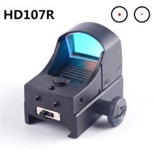 Cbsebike lente riflescope visão holográfica micro reflexo escopo níveis mini caça rifle ponto colimador