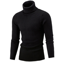 ZOGAA Winter High Neck Thick Warm Sweater Men Turtleneck Brand Mens Sweaters Slim Fit Pullover Knitwear Male Double collar