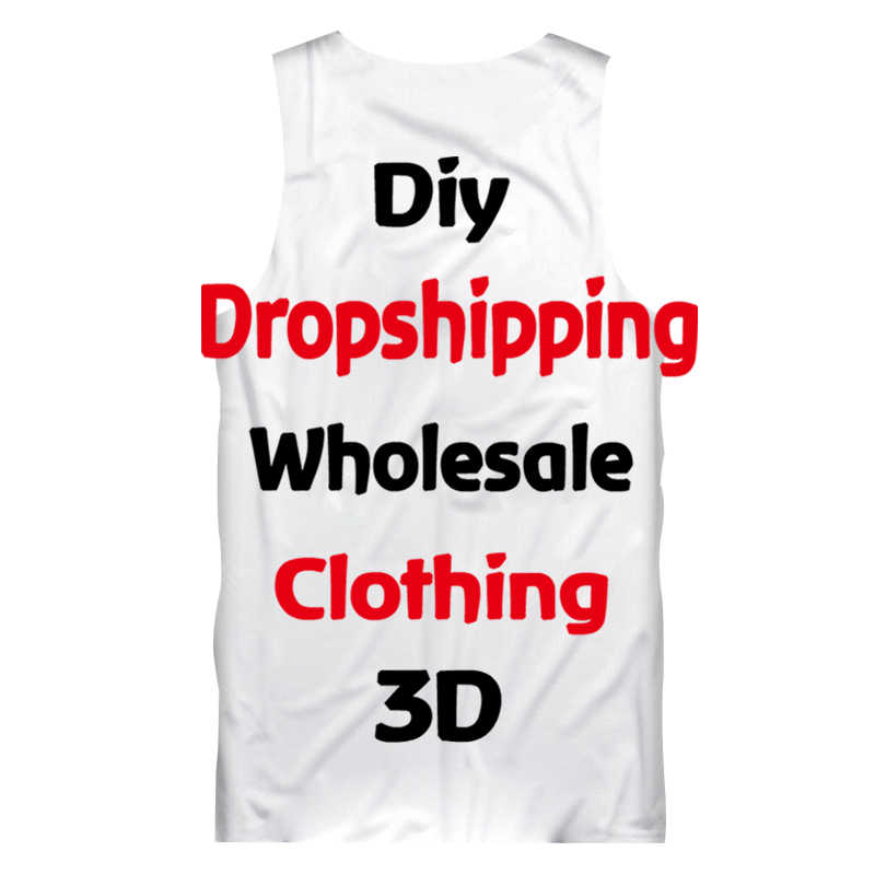 OGKB Dropshipping Großhandel Angepasst Tank Top männer DIY Ihre Eigenen Design 3D Weste Singuletts Nach Fitness Ärmelloses T Shirts