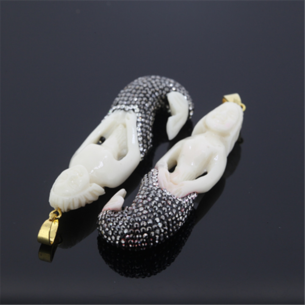 5pcs Top Quality Drusy Druzy Gem Stone Carved Mermaid Pendant Charm Bone Pendant Paved Rhinestones For Fine Jewelry Making Mermaid Pendant Carved Stone Pendantpave Pendant Aliexpress