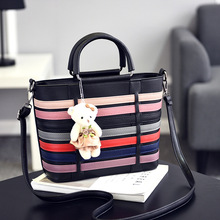 2017 Hot sale Luxury leather women handbag female messager bag shoulder bag vintage trunk totes top-handle Ladies crossbody bags