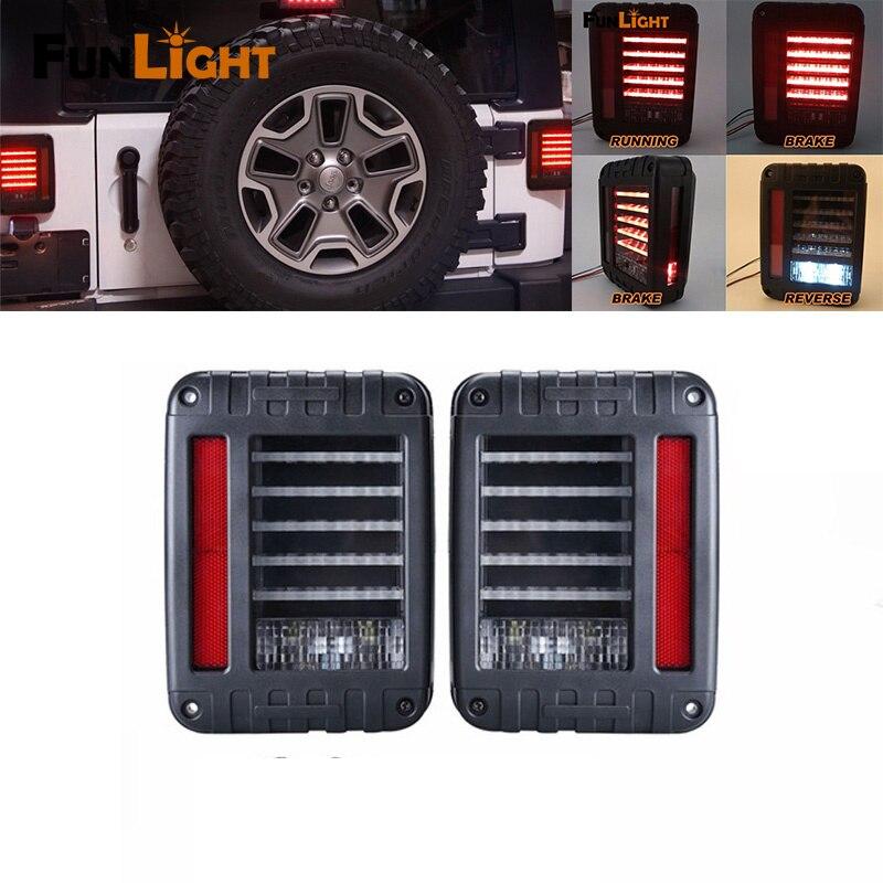 Хвост светло-черный Вранглер JK светодиодные LED тормоз хвост света Ассамблеи с заднего включите Сингал для Wrangler JK виллиса 07-16