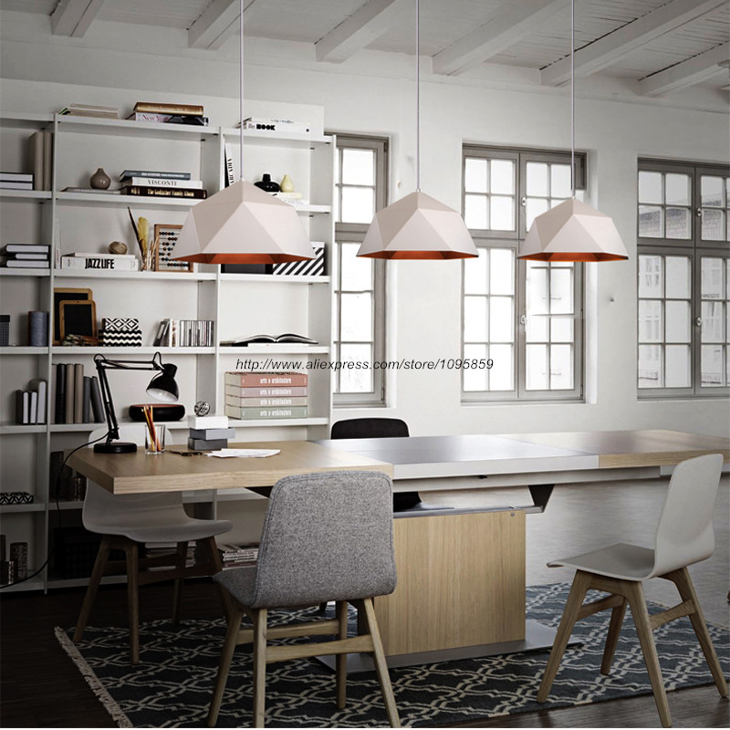 Dining Pendant Light Fixtures Industrial Dining Bar Kitchen White/Black Lampshade Loft Style D 38/46CM