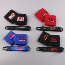 Красный, синий, черный, мотоциклетная Передняя жидкость, масляный тормоз, резервуар, крышка для чашки, протектор для Suzuki GSXR 750 600 1000, резервуар для носков
