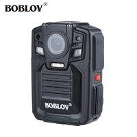 BOBLOV HD66 02 128 ГБ Ambarella A7 33MP HD 1296 P gps полицейская нательная видеокамера ИК Ночное видение 3 4 часа видео Регистраторы gps