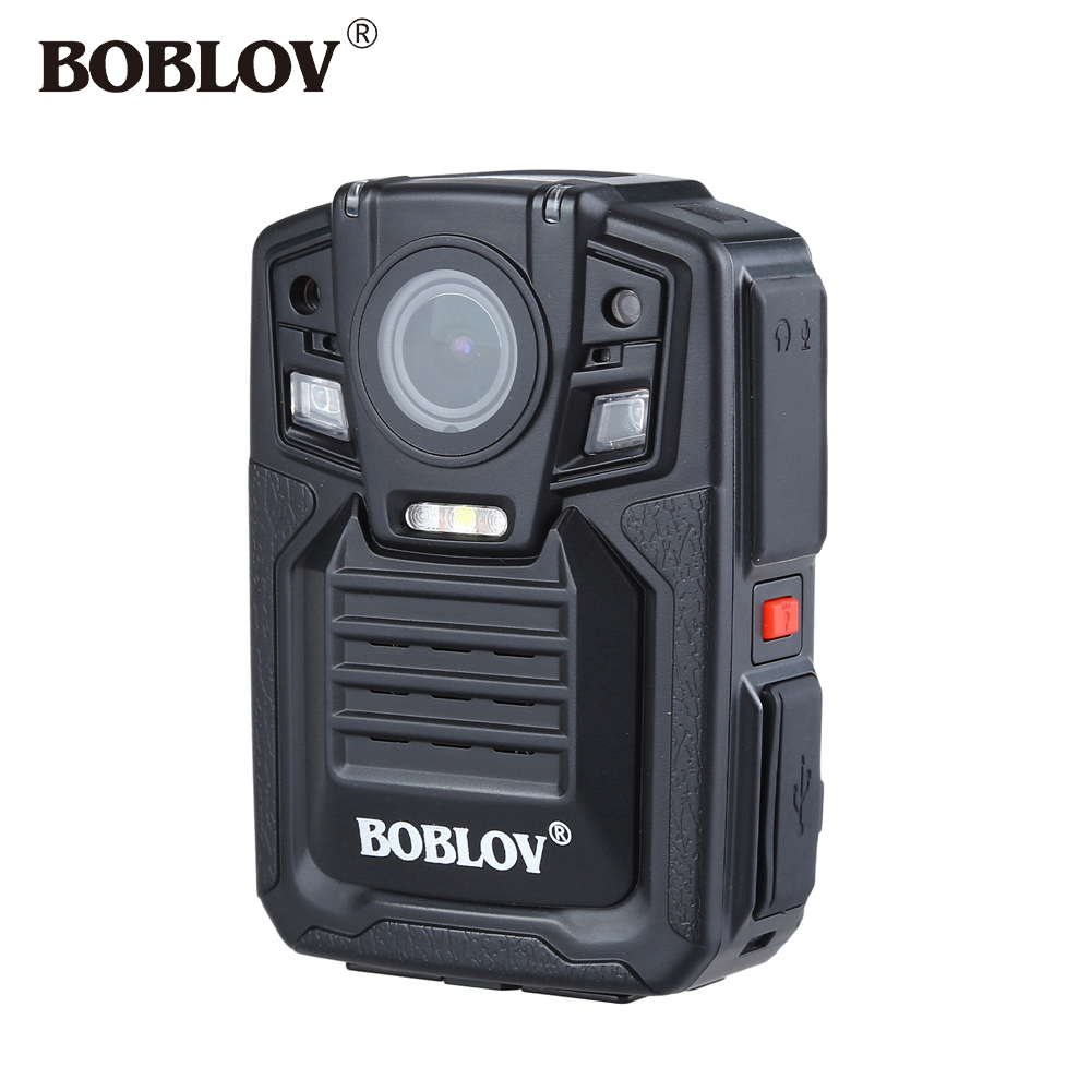 BOBLOV HD66-02 32GB Ambarella A7 33MP HD 1296P Police Body Camera IR Night Vision 140 degree 3-4 Hours Video Recorder GPS Camera