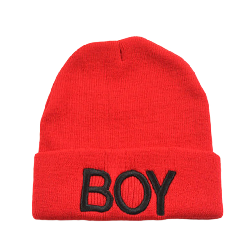 2018 Cute Baby Hats Fashion Baby Candy Color Letter Boy Beanie Cap Knitted Woolen Skull Ski Hat Caps Boy Girl Accessories