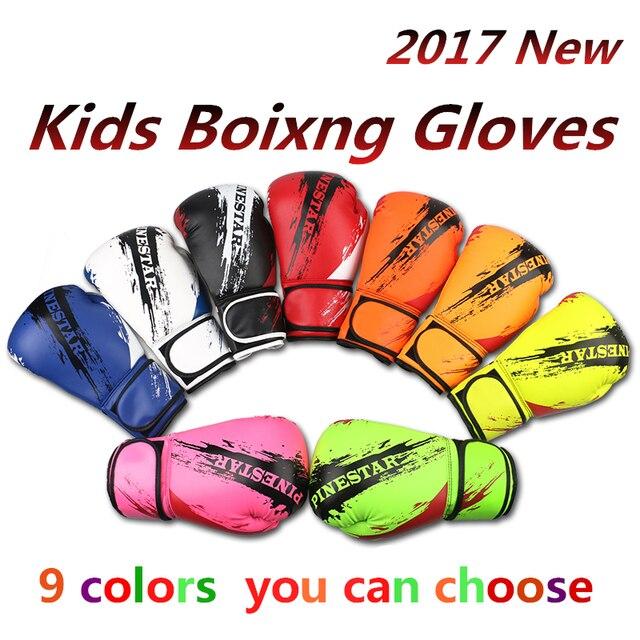 30dbf20a0 Crianças profissionais Luvas Luvas de Boxe 6 oz Crianças Livres de Combate  de Muay Thai luva