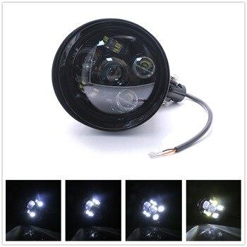 Black Motorcycle Headlamp Aluminum Bullet Headlight Lamp For Harley Sportster XL Dyna Softail FXR FXST Chopper Bobber Custom