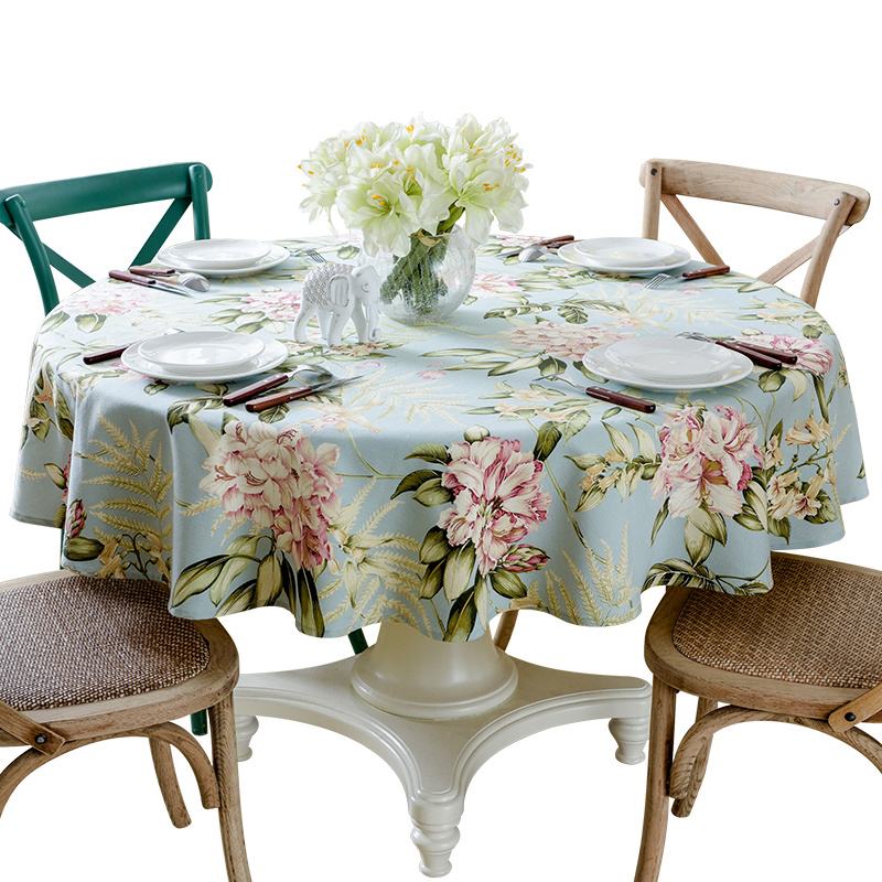 High Grade Round Table Cloth Square Tablecloth Home Wedding Hotel