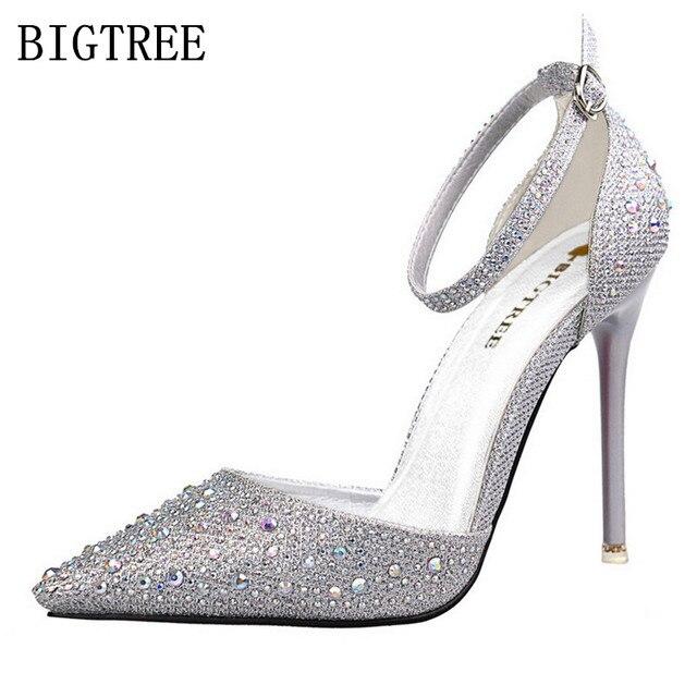 708873be997b summer sandals red high heels shoes bling bling woman italian euros designer  shoes women luxury 2018
