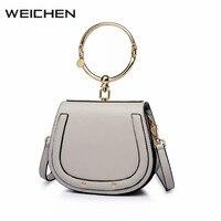 Designer Handbags High Quality 2017 Newest Fashion Metal Ring Women Messenger Bags Shoulder Bag Female Handbag