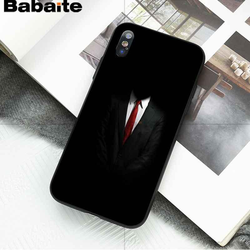 Babaite ダークスーツ謎男男性ラブリーノベルティ Fundas 電話ケースカバー iphone 8 7 6 6 s プラス 5 5 s SE XR X XS 最大