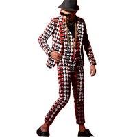 Men Slim Fit Casual Suit Jacket Blazers Coat Strawberry Printing Male Dancer Singer DJ Fashion Hip Hop Stage Costumes Custom