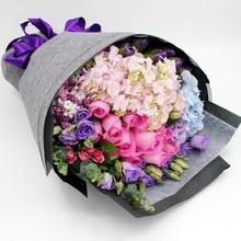 Embalaje de Embalaje de La Flor de lino Flores Floristería Ramo de Flores de Papel De Embalaje Papel de Embalaje de Regalo Multicolor 49 CM * 5 Yardas