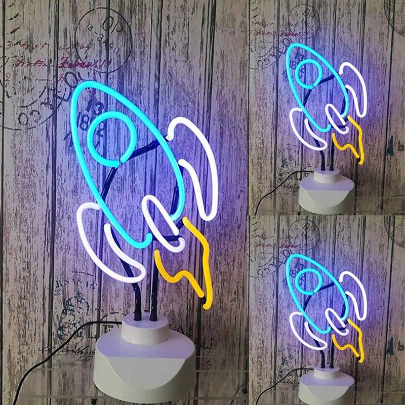 Néons Led néon enseigne lampe Tubes de verre personnalisé flamant rose néon jaune pour les décorations de noël commerciales cadeau nouveau