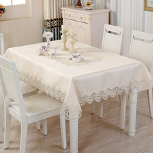 European Luxury Lace Square Round Table Cloth Runner Tablecloth Set High-grade Satin Jacquard Fabric Wholesale Home Living Decor