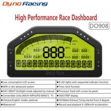 9 ב 1 ראלי רכב מירוץ דאש לוח המחוונים LCD תצוגה דיגיטלית מד רכב מד Waterproof מלא חיישן ערכת טכומטר DO908