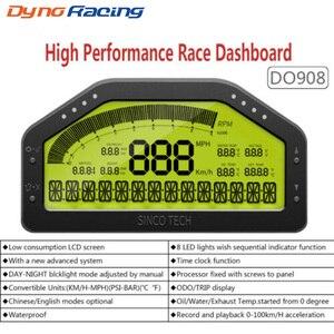 Image 1 - 9 in 1 Rally Car Race Dash Dashboard LCD Digital Display Gauge Waterproof Car Meter Full Sensor Kit Tachometer DO908