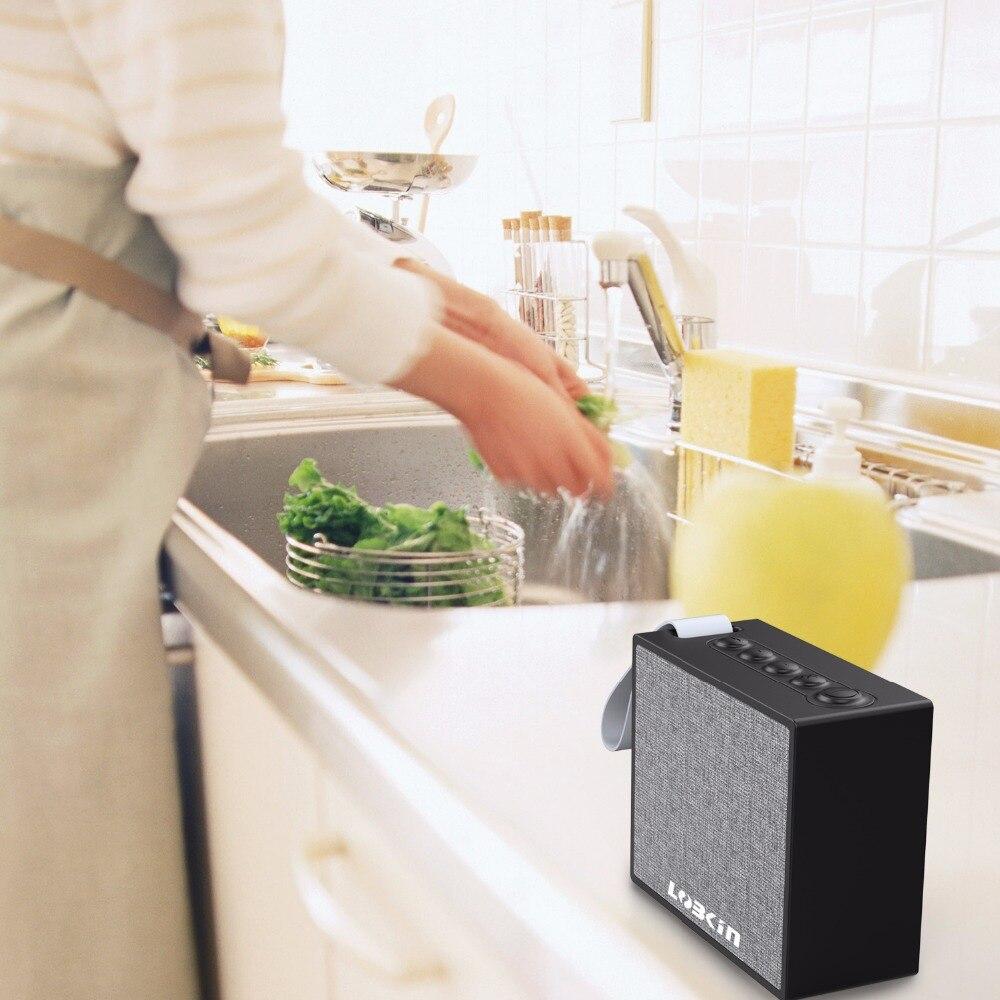 Lobkin WiFi Bluetooth Speaker HiFi Stereo Sound 1000mAh battery IPX6 waterproof Alexa Smart Speaker