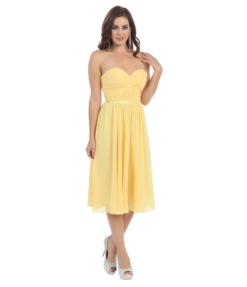 Under 80 dollars water melon yellow tea length beach sister party under 80 dollars water melon yellow tea length beach sister party gowns dress chiffon cheap bridesmaid prom dresses sash lace up in bridesmaid dresses from ombrellifo Choice Image