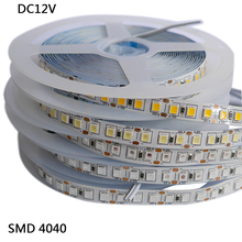 Free Shipping 5M 120leds/m 600leds White/warm white red green blue yellow pink  4040 SMD Flexible LED Strip tape light,DC12V 60 120leds m 5m led strip smd 5730 flexible led tape light smd 5630 not waterproof white warm white dc12v
