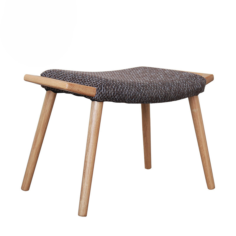 Stool Chair Solid Wood Home Dressing Stool Bench Sofa Stool Makeup Stool Bedroom Living Room Nordic Oak Household Footrest fashion creative bench household fruit stools solid wood sofa stool bedroom living room fabric stool home furniture