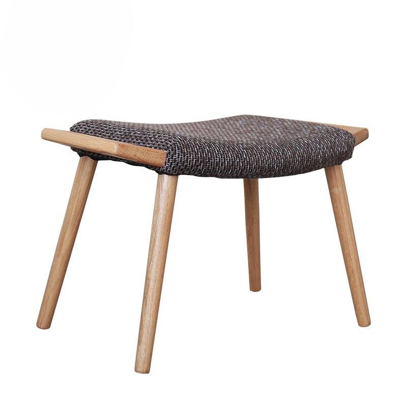 Tabouret chaise bois massif maison Dressing tabouret banc canapé tabouret maquillage tabouret chambre salon chêne nordique ménage repose-pieds