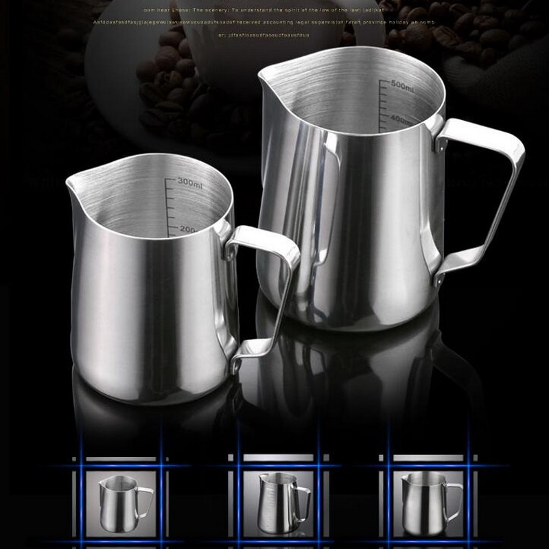 300ML/600ML/900ML stainless steel succulent coffee pull flower pot scale creative milk turkish coffee pot with mouth