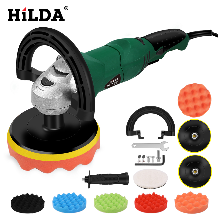 HILDA Car Polisher Auto Polishing Machine Polishing Machine Sander  Electric Floor Polisher 125mm/150mm Polishing Pad 220V