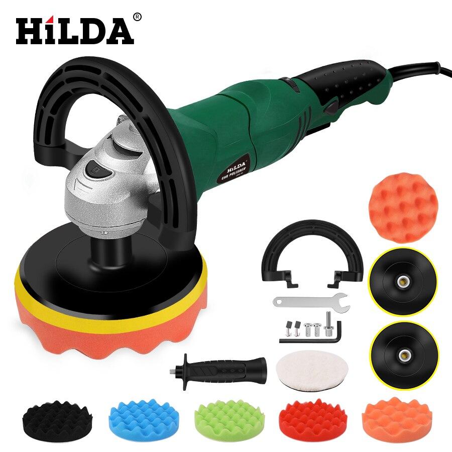HILDA voiture polisseuse 1200W vitesse Variable 3500 tr/min 150mm voiture outil de soin de peinture Machine à polir ponceuse M14 électrique polisseuse de sol