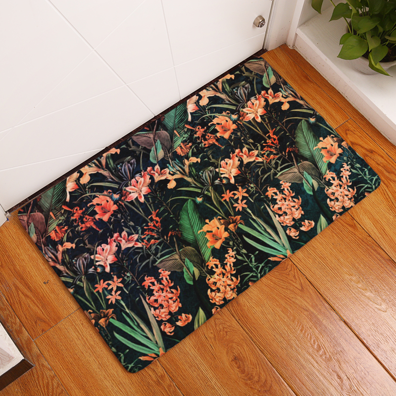 16 Style Floral Print Carpets Anti Slip Floor Mat Outdoor Rugs Front Door  Mats 40X60