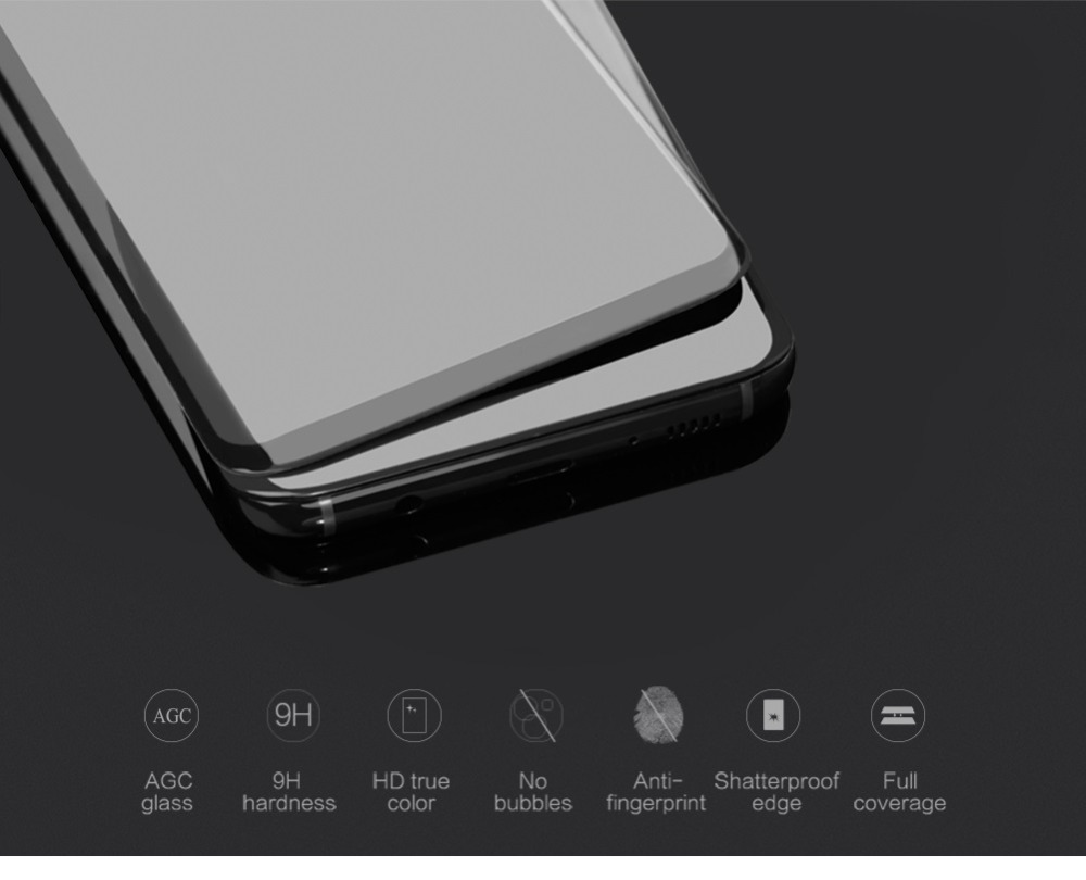 Image 4 - NILLKIN for samsung galaxy s8 plus screen protector full cover 3d 9H thin for samsung s9 s9 Plus Note 9 tempered glass curved-in Phone Screen Protectors from Cellphones & Telecommunications