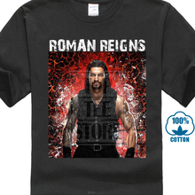 2017 New Creative Roman Reigns Pro Wrestling Design Men's 100% Cotton Tee Shirts High Quality O-Neck Short Sleeve Tee