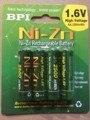 4 unids/lote original bpi aa 2500 mah 1.6 v 1.5 v ni-zn de la batería baja auto-descarga las baterías alto grado de persistencia bateria recargable