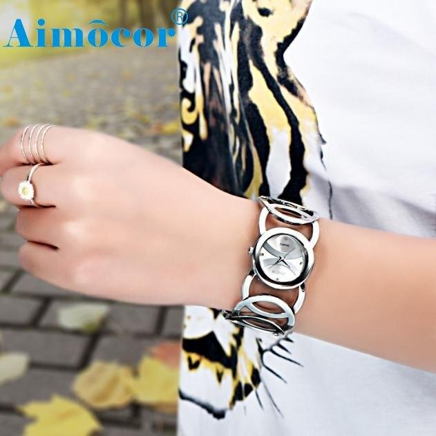 Women's Fashion Watch Stainless Steel Band Analog Quartz Wrist Watch relogio reloj pulsera de cuero mechanical watches women#8 stylish bracelet band women s quartz analog wrist watch coffee golden 1 x 377