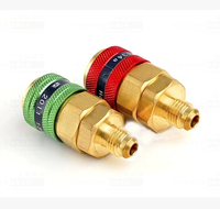 QC 12B Automotive Air Conditioning High And Low Pressure Quick Joint 134A Refrigerant Transfer Head